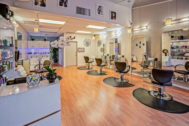 An empty hair salon