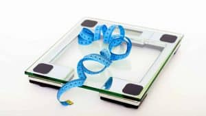 A transparent weight scale