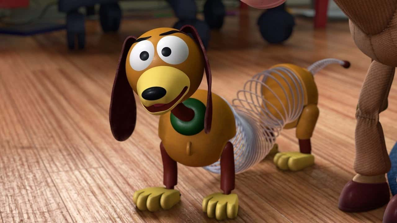 The dog slinky from toy story